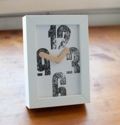 handmade industrial rustic vintage design home decor furniture letterpress clock