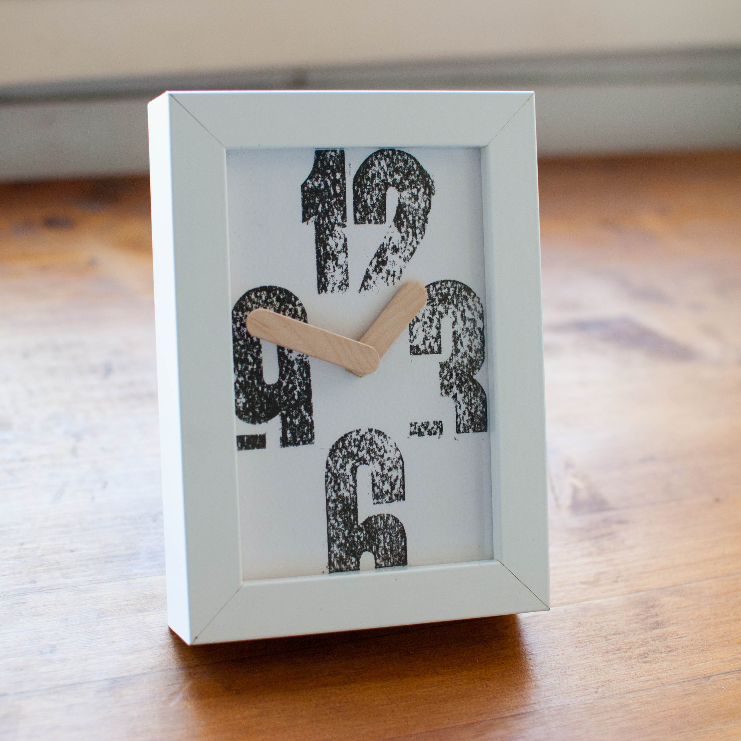Rustic letterpress design clock handmade for Handmade home decorations