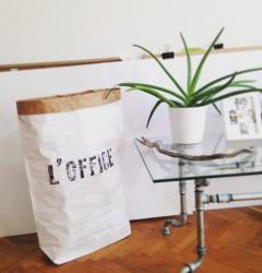 handmade industrial rustic vintage design home decor furniture letterpress papaerbag office