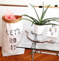 handmade industrial rustic vintage design home decor furniture letterpress paperbag letsdoit