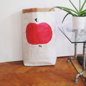 handmade industrial rustic vintage design home decor furniture paperbag apple
