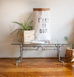 Cest si bon paperbag design storage handmade letterpress