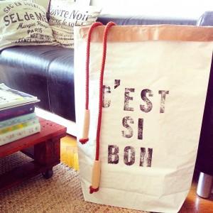 C'est si bon paperbag storage handmade letterpress near