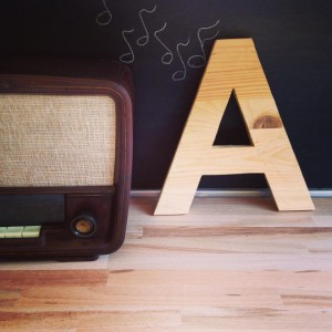 rustic decor vintage wooden wall letters A