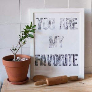 rustic vintage home decoration letterpress inspirational poster you are my favorite